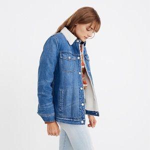 Madewell Sherpa jean jacket pinehill oversized XL